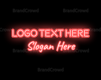 """Neon Text"" by BrandCrowd"