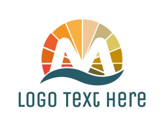 Peace Of Mind - Colorful Circle M logo design
