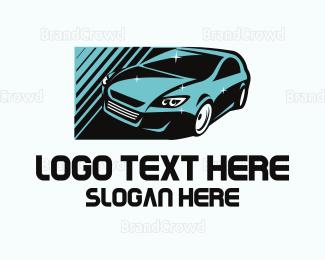 Car Rental - Blue Car  logo design
