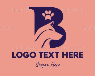 Dog Walking - Dog Letter B logo design