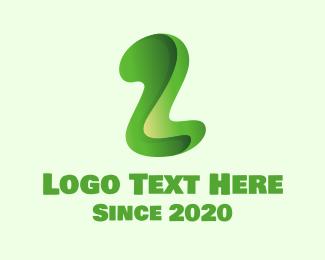 Two - Green Letter Z logo design