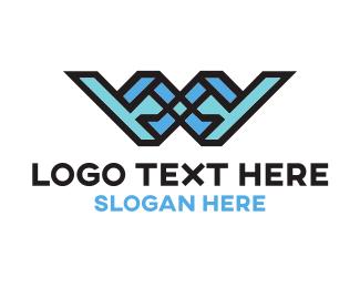 Outlines - Wanderlust W logo design