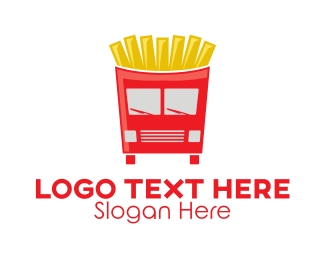 Mobile Restaurant - French Fries Food Truck logo design