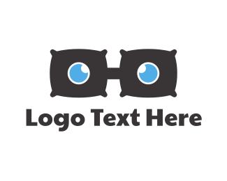 Cushion - Pillow Glasses logo design