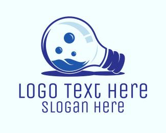 Blue Light Bulb Logo