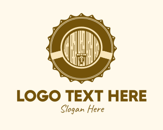 Brewer - Vintage Beer Barrel logo design