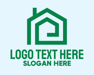 Green City - Green House Real Estate logo design