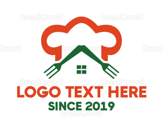 Green And Orange - Orange Chef Restaurant  logo design