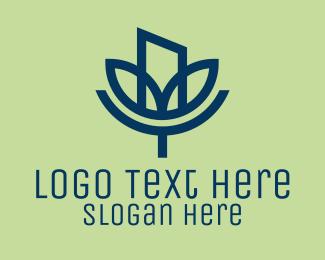 Metropolis - Green City Living  logo design