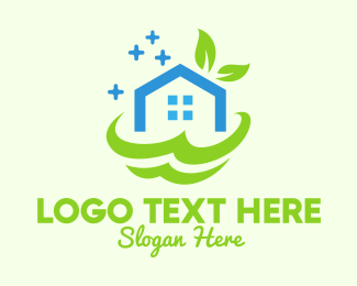 Environment - Fresh Clean Eco House logo design