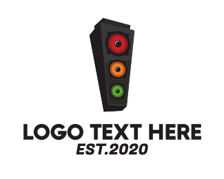 Traffic Light - Speaker Stoplight logo design