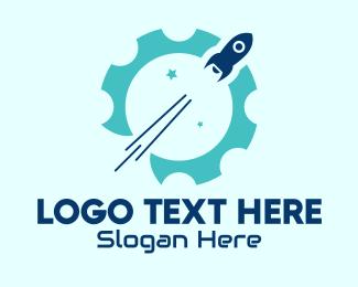 Blast - Rocket Space Engineering logo design
