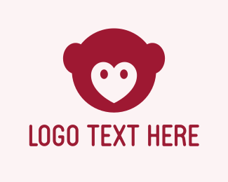 Chimp - Animal Love logo design