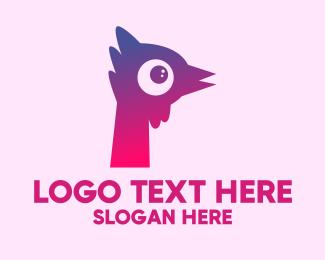 Letter P - Letter P Rooster logo design