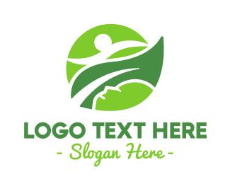 Athlete - Green Leaf Athletics logo design