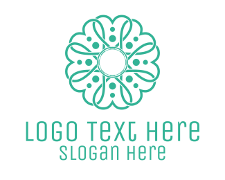 Valentine - Heart Flower logo design