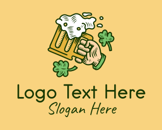 Saint Patrick - St. Patrick's Day Irish Beer  logo design