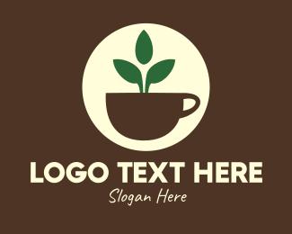 Leaf - Herbal Tea Cup Leaves logo design