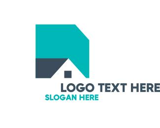 Real Estate - Basic Shape House logo design