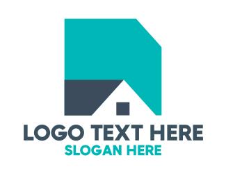 Roofing - Basic Shape House logo design