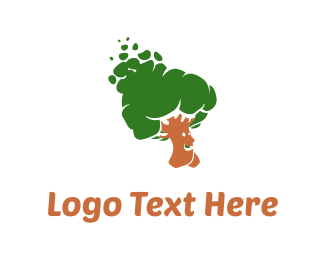 Smiling - Walking Tree logo design