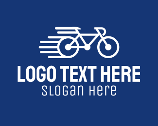 Biking - Simple Fast Bicycle Bike logo design
