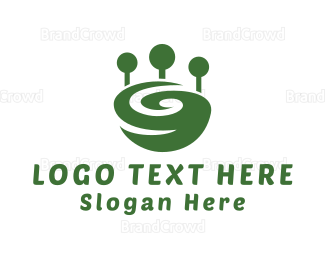 Whirl - Green Whirl  logo design