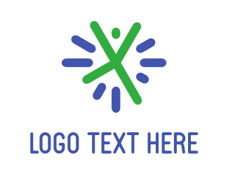 Happiness - Cheerful Person logo design