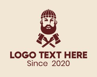 Axe - Hipster Lumberjack  logo design