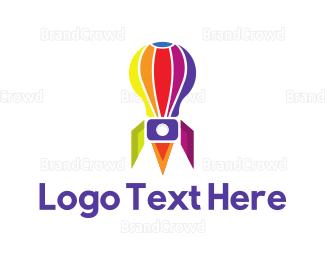 Exhibition - Rocket Balloon logo design