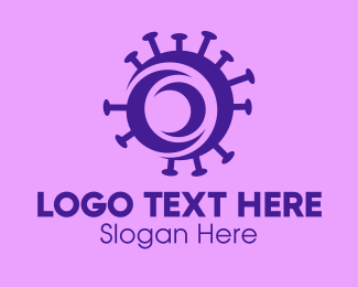Vaccination - Purple Circle Virus logo design