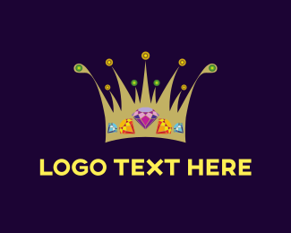 Jewel - Diamond Crown logo design