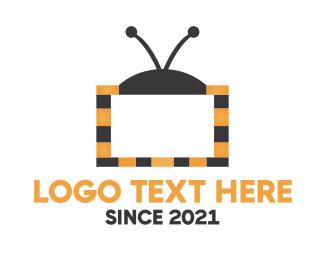 Tv - Bee TV logo design