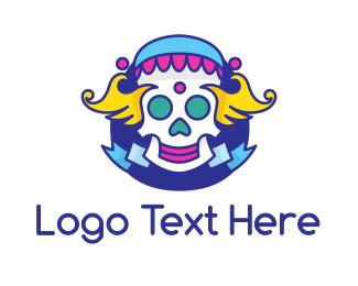 Corps - Clown Skull logo design