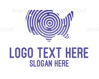 America - Stroke United States of America logo design