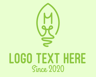Eco Friendly - Eco-Friendly Bulb Lettermark logo design
