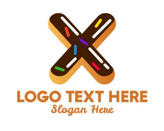 Sugar - Donut Bakeshop Letter X logo design