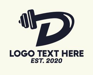 Fitness Gym - Fitness Gym Letter D logo design