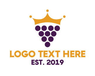 Grape - Grape Crown logo design