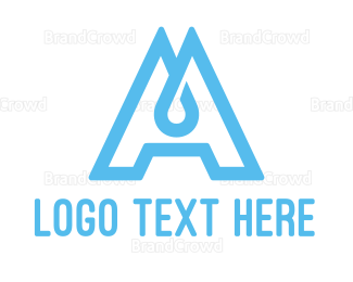 Liquid - Water Letter A logo design