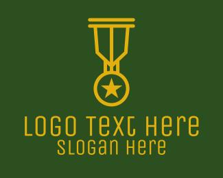 Winning - Military Gold Medal  logo design