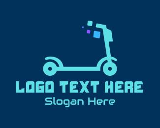 Automotive - Electric Scooter logo design
