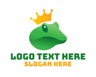Day Care - Prince Charming Frog Royalty logo design