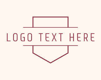 Pocket - Banner Line Art Wordmark logo design