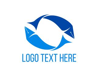 Quill - Fish Quill logo design