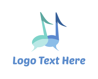 Speak - Music Chat logo design