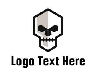 Cranium - Zombie Skull logo design