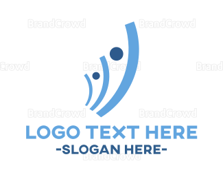 Financial Planning - Human Investment logo design