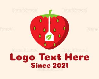 Blackberry - Stawberry Tea logo design