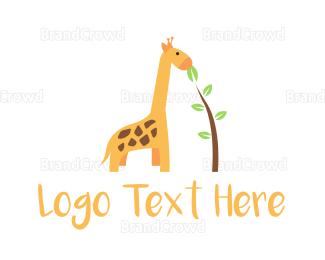 Madagascar - Cute Giraffe logo design